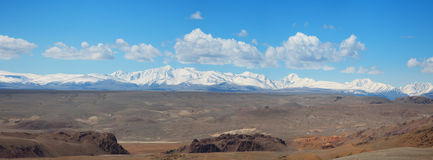 Panorama of the Altai Mountains Royalty Free Stock Photography