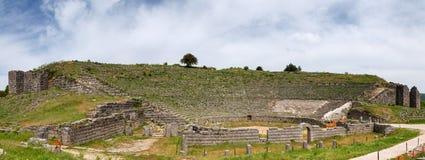 Panorama alten Theaters Dodoni, Epirus, Griechenland Stockbilder