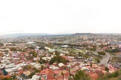 Panorama alter Stadt Tifliss Lizenzfreie Stockfotografie