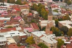 Panorama alter Stadt Tifliss Stockfotografie