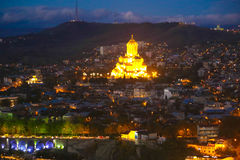 Panorama alter Stadt Tifliss Lizenzfreie Stockfotos