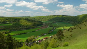Panorama of the Altmuehltal stock footage