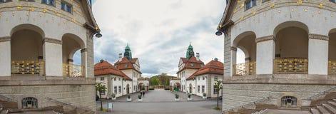 Panorama alto mau da definição de Hessen Alemanha do sprudelhof do nauheim Imagem de Stock