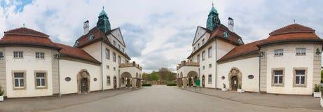 Panorama alto mau da definição de Hessen Alemanha do sprudelhof do nauheim Fotos de Stock
