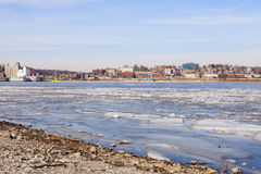 Panorama of Alton across Mississippi River Stock Image