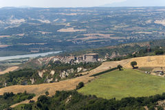 Panorama of Alviano (Terni, Umbria). Panorama of Alviano (Terni, Umbria, Italy), landscape at summer royalty free stock photography