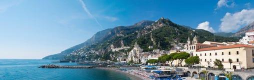 Panorama of Amalfi coast Stock Photography
