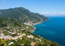 Panorama of the Amalfi Coast Royalty Free Stock Photos