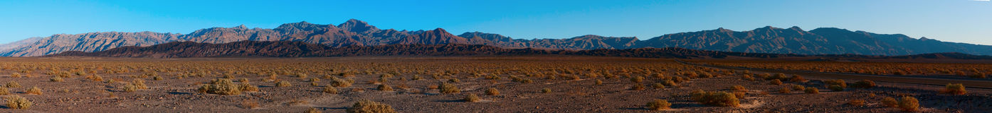 This is a panorama of the Amargosa mountain range Royalty Free Stock Photo