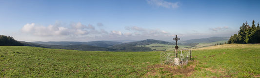 Panorama of amazing summer countryside Royalty Free Stock Photo