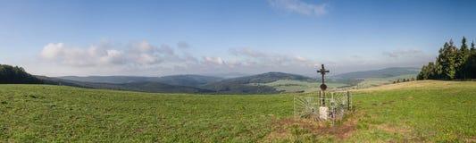 Panorama of amazing summer countryside Royalty Free Stock Photo