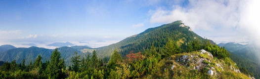 Panorama of amazing summer mountain landscape - Slovakia Royalty Free Stock Photography