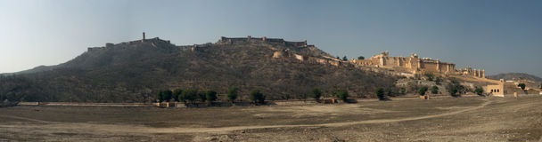 Panorama of Amber Fort royalty free stock image