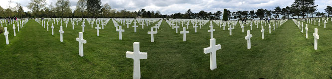 Panorama of American Cemetery at Normandy Stock Photo