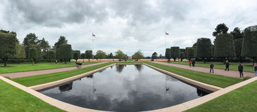 Panorama of American Cemetery at Normandy Stock Image