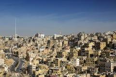Panorama of Amman, Jordan`s capital. JORDAN, AMMAN - 12 JANUARY 2017: Panorama of Amman, Jordan`s capital: JANUARY 12, 2017 in Jordan. Amman royalty free stock image