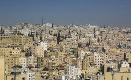 Panorama of Amman, Jordan`s capital. JORDAN, AMMAN - 12 JANUARY 2017: Panorama of Amman, Jordan`s capital: JANUARY 12, 2017 in Jordan. Amman stock photo