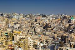 Panorama of Amman, Jordan`s capital. JORDAN, AMMAN - 12 JANUARY 2017: Panorama of Amman, Jordan`s capital: JANUARY 12, 2017 in Jordan. Amman royalty free stock images