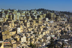 Panorama of Amman, Jordan`s capital Royalty Free Stock Photo
