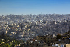 Panorama of Amman, Jordan`s capital. JORDAN, AMMAN - 12 JANUARY 2017: Panorama of Amman, Jordan`s capital: JANUARY 12, 2017 in Jordan. Amman stock images