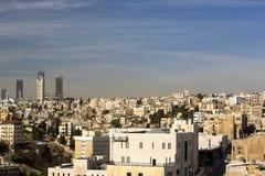 Panorama of Amman, Jordan`s capital. JORDAN, AMMAN - 12 JANUARY 2017: Panorama of Amman, Jordan`s capital: JANUARY 12, 2017 in Jordan. Amman stock images