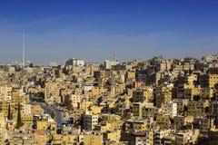 Panorama of Amman, Jordan`s capital. JORDAN, AMMAN - 12 JANUARY 2017: Panorama of Amman, Jordan`s capital: JANUARY 12, 2017 in Jordan. Amman stock photo