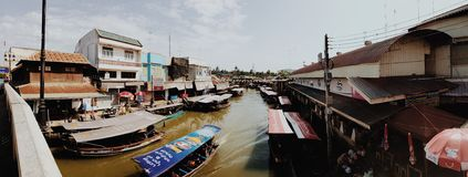 Panorama Amphawa Stock Photography