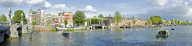 Panorama from Amsterdam in the Netherlands Royalty Free Stock Image