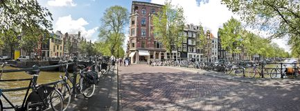 Panorama from Amsterdam the Netherlands Stock Image