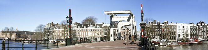 Panorama from Amsterdam in the Netherlands Royalty Free Stock Photos