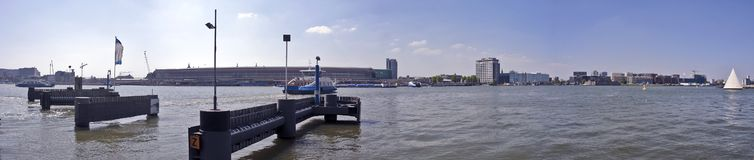 Panorama Amsterdam the Netherlands Royalty Free Stock Photography