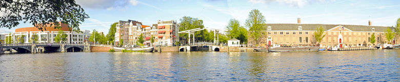 Panorama from Amsterdam in the Netherlands Royalty Free Stock Photography