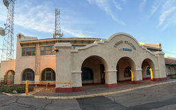 Panorama of Amtrak Rail Passenger Station Stock Images