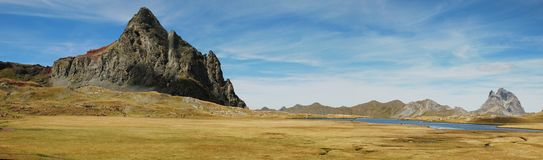 Panorama of Anayet peak and plateau Royalty Free Stock Images
