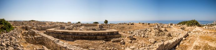 Panorama of ancient Acropolis remains in Limassol Stock Image
