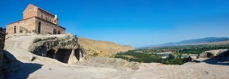 Panorama of ancient cave city Uplistsikhe Stock Photography