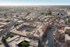 Panorama of the ancient city Ichan-Kala royalty free stock photo