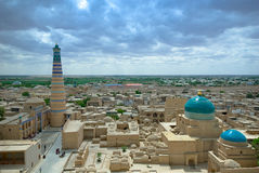 Panorama of an ancient city of Khiva Royalty Free Stock Images
