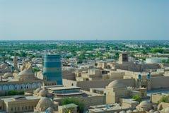 Panorama of an ancient city of Khiva, Uzbekistan Royalty Free Stock Photos