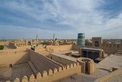 Panorama of an ancient city of Khiva, Uzbekistan Stock Photo