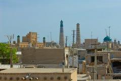 Panorama of an ancient city of Khiva, Uzbekistan Stock Images
