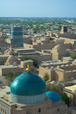 Panorama of an ancient city of Khiva, Uzbekistan Royalty Free Stock Photo
