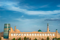 Panorama of an ancient city of Khiva, Uzbekistan Royalty Free Stock Photo
