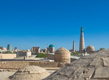 Panorama of an ancient city of Khiva, Uzbekistan Royalty Free Stock Image