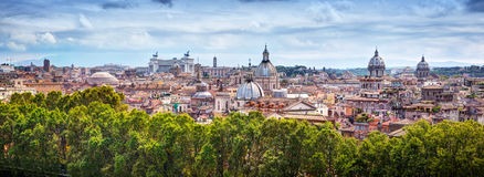 Panorama of the ancient city of Rome, Italy Stock Photography
