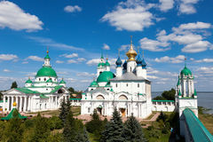 Panorama of  ancient monastery in the city  Rostov Stock Photo