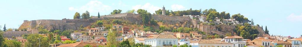 Panorama of ancient Palamidi fortress, Greece Stock Image