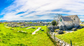 Panorama of ancient ruins, Croatia. Royalty Free Stock Images