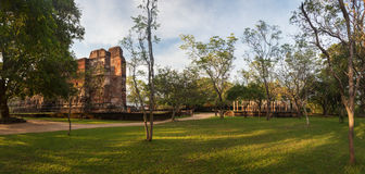 Panorama of ancient ruins in Polonnaruwa, Srilanka, Asia Royalty Free Stock Photography