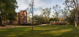 Panorama of ancient ruins in Polonnaruwa, Srilanka, Asia Royalty Free Stock Photography